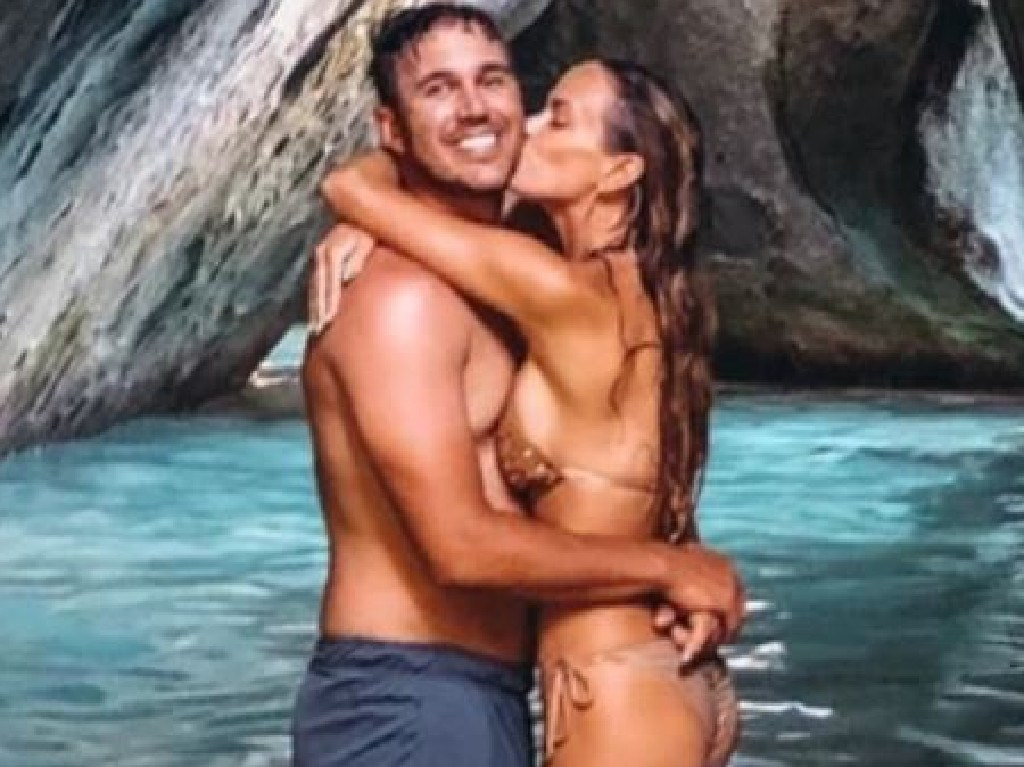 Brooks Koepka and Jena Sims get cosy in the Caribbean.