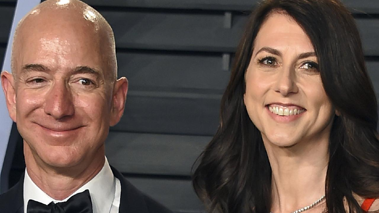 Jeff Bezos and wife MacKenzie Bezos have one of the most amicable, and richest, divorce settlements in history. Picture: Evan Agostini/Invision/AP, File