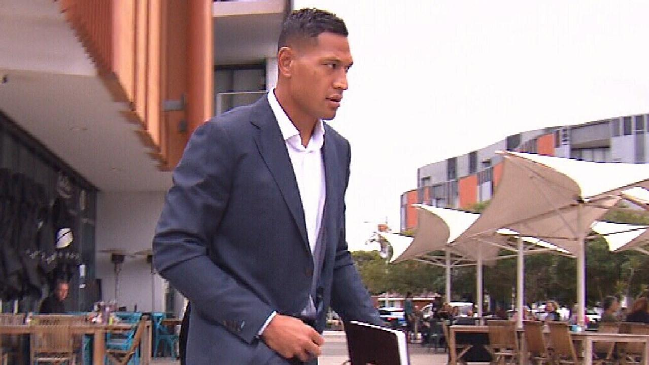 Israel Folau has shown no remorse for his part in the saga. Picture: 7NEWS