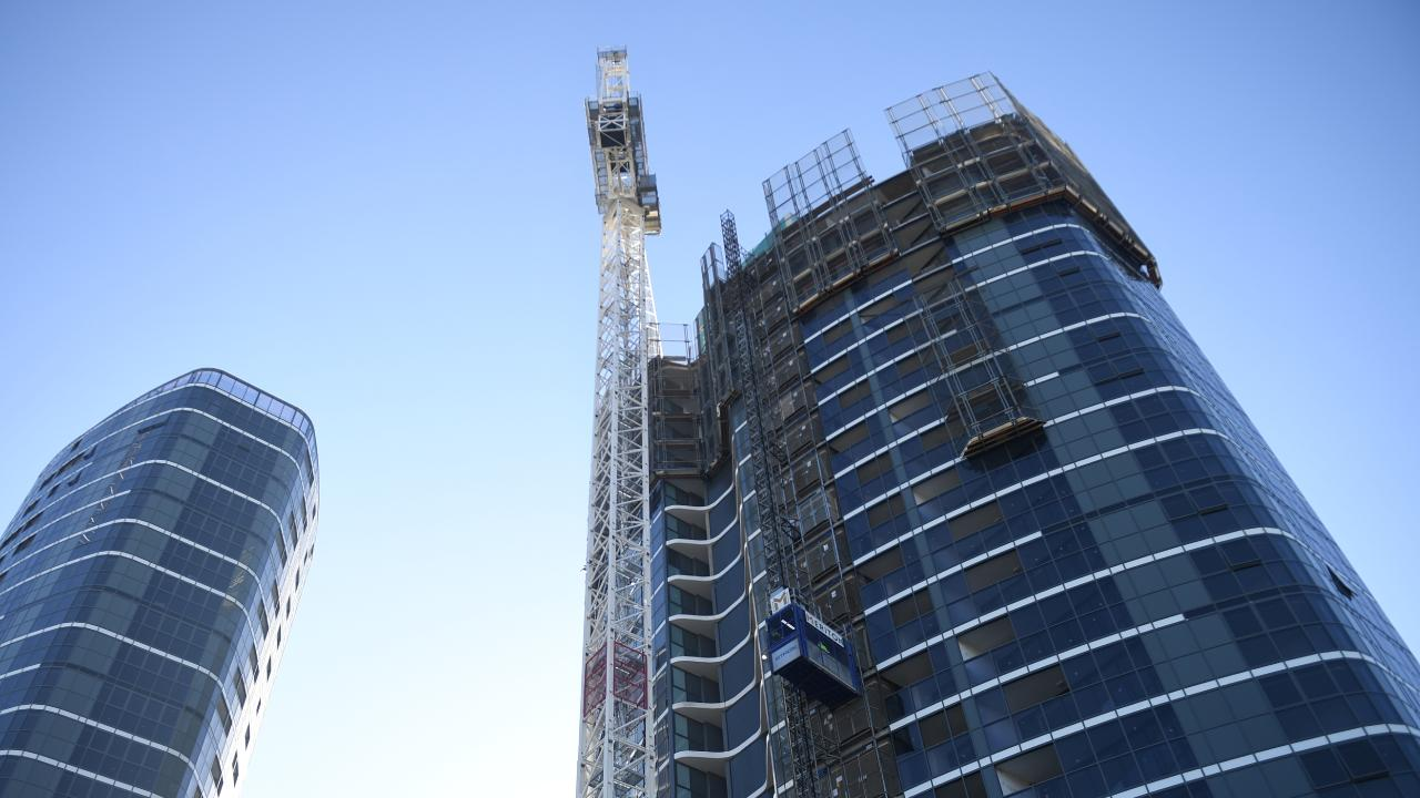 Apartment buildings started during the boom are now coming onto the market. Picture: AAP Image/Brendan Esposito