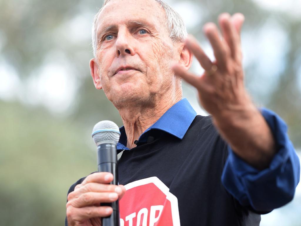 Anti-Adani campaigner Dr Bob Brown. Picture: AAP/Jeremy Piper