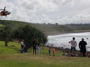 UPDATE: Fisherman dies after being washed off rocks