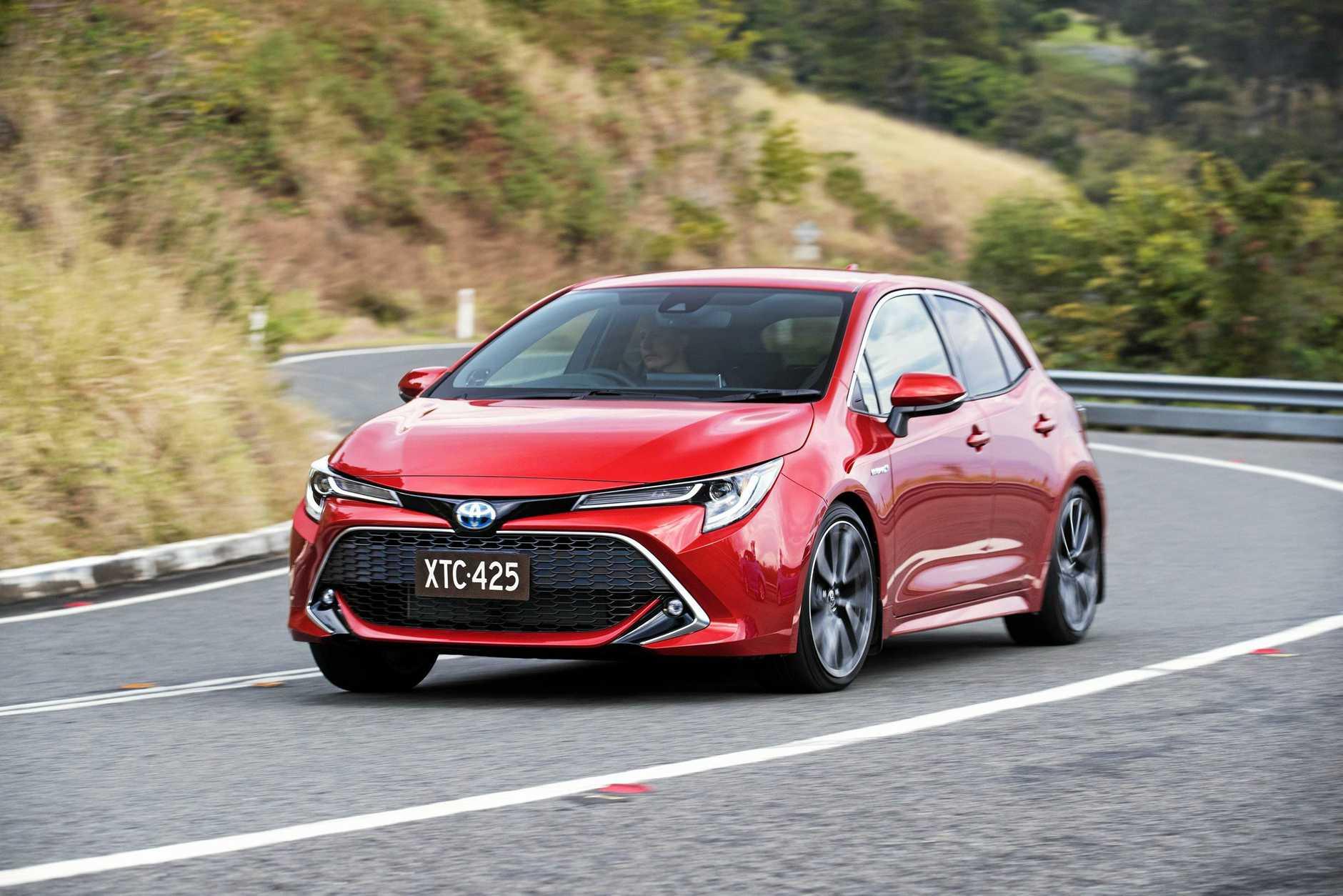 The Toyota Corolla ZR Hybrid.
