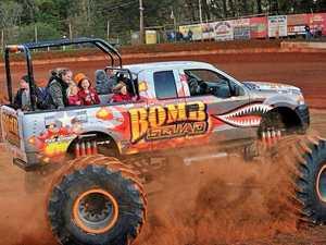 Monster trucks roar into town for joy rides