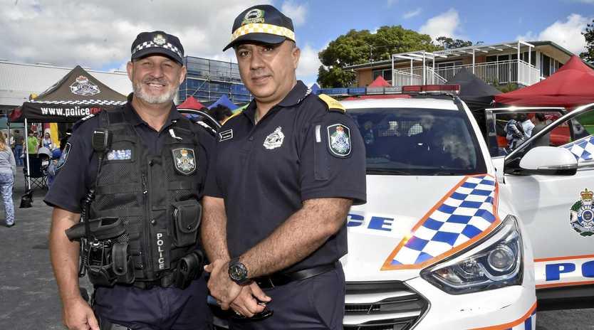 IMPORTANT ROLE: Police Sergeant Tony Rehn (left) with Toowoomba's newest police liaison officer, Zana Hama.