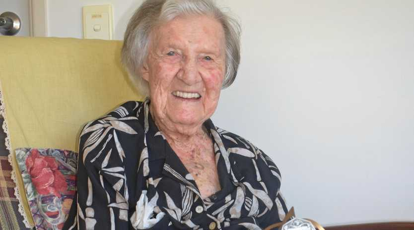 HAPPY BIRTHDAY: Carinya Hostel resident Dorrie Amor celebrated her 103rd birthday on Sunday, April 14. She still has some of her tennis trophies.