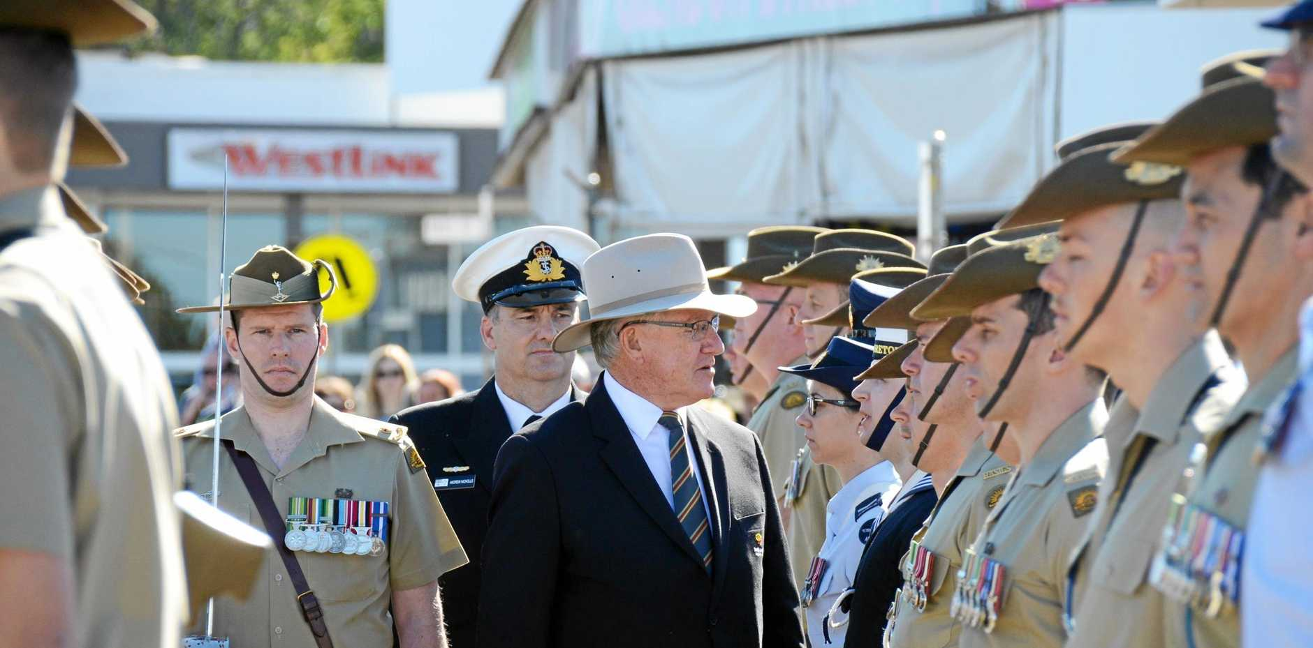 LEST WE FORGET: South Burnett Regional Council Mayor Keith Campbell encourages people to take time to reflect on Anzac Day.