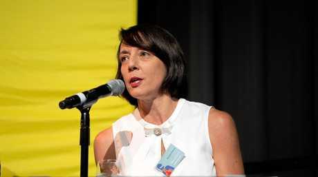 Belinda Hassan at the 2019 Dawson Debate in Mackay.