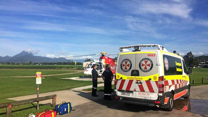 Mountain bike rider flown to hospital after crash