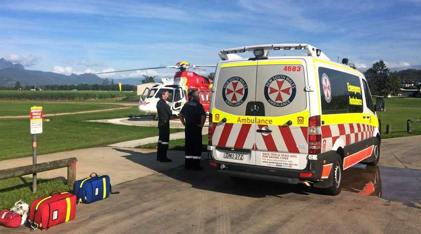 EMERGENCY: Westpac Life Saver Helicopter transported a woman who fell of her mountain bike in Murwillumbah to Gold Coast University Hospital last Monday.