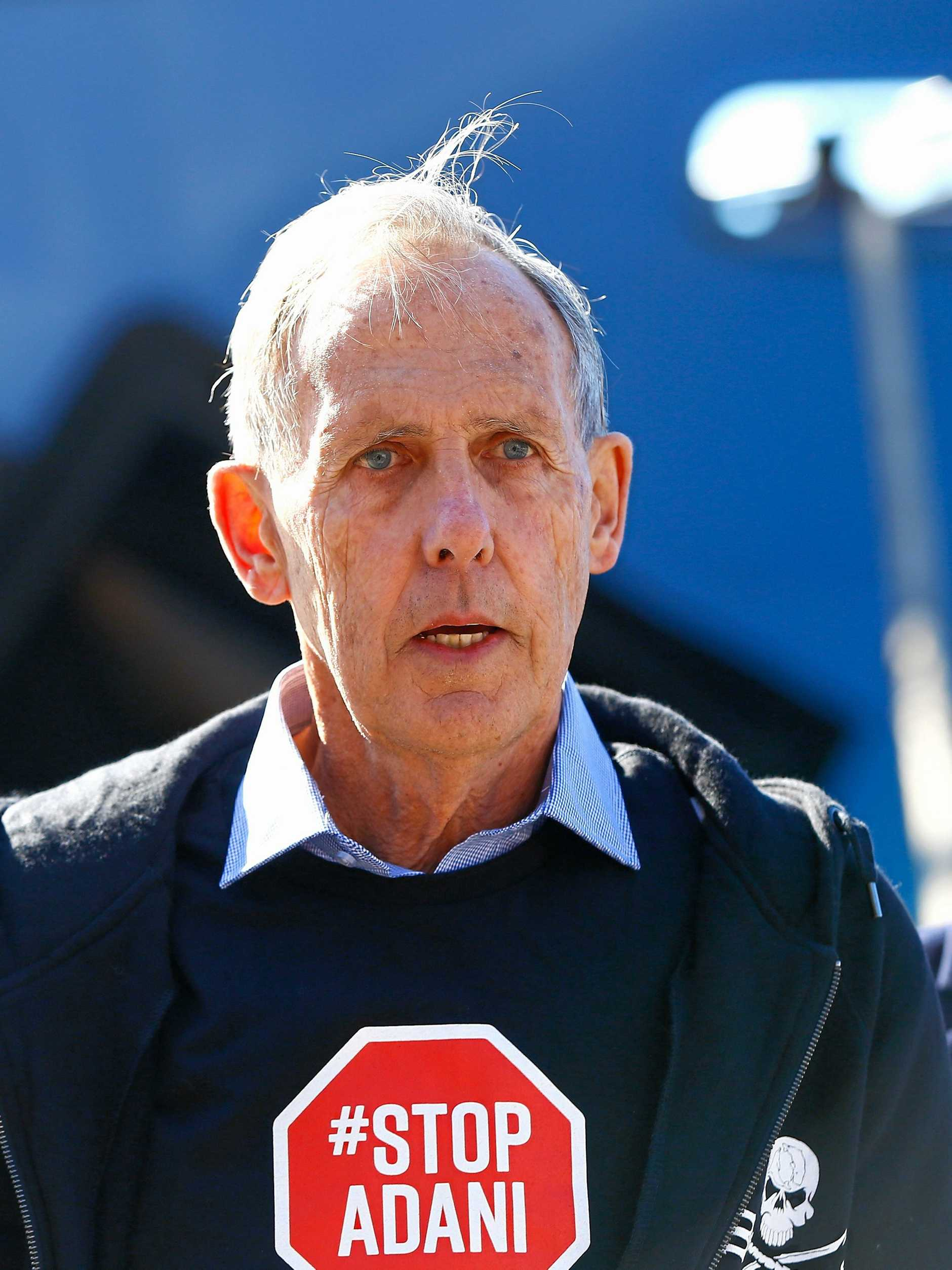 Former Australian politician and environmentalist Dr Bob Brown is leading a thousand-strong delegation into Central Queensland to protest against the Adani mine.