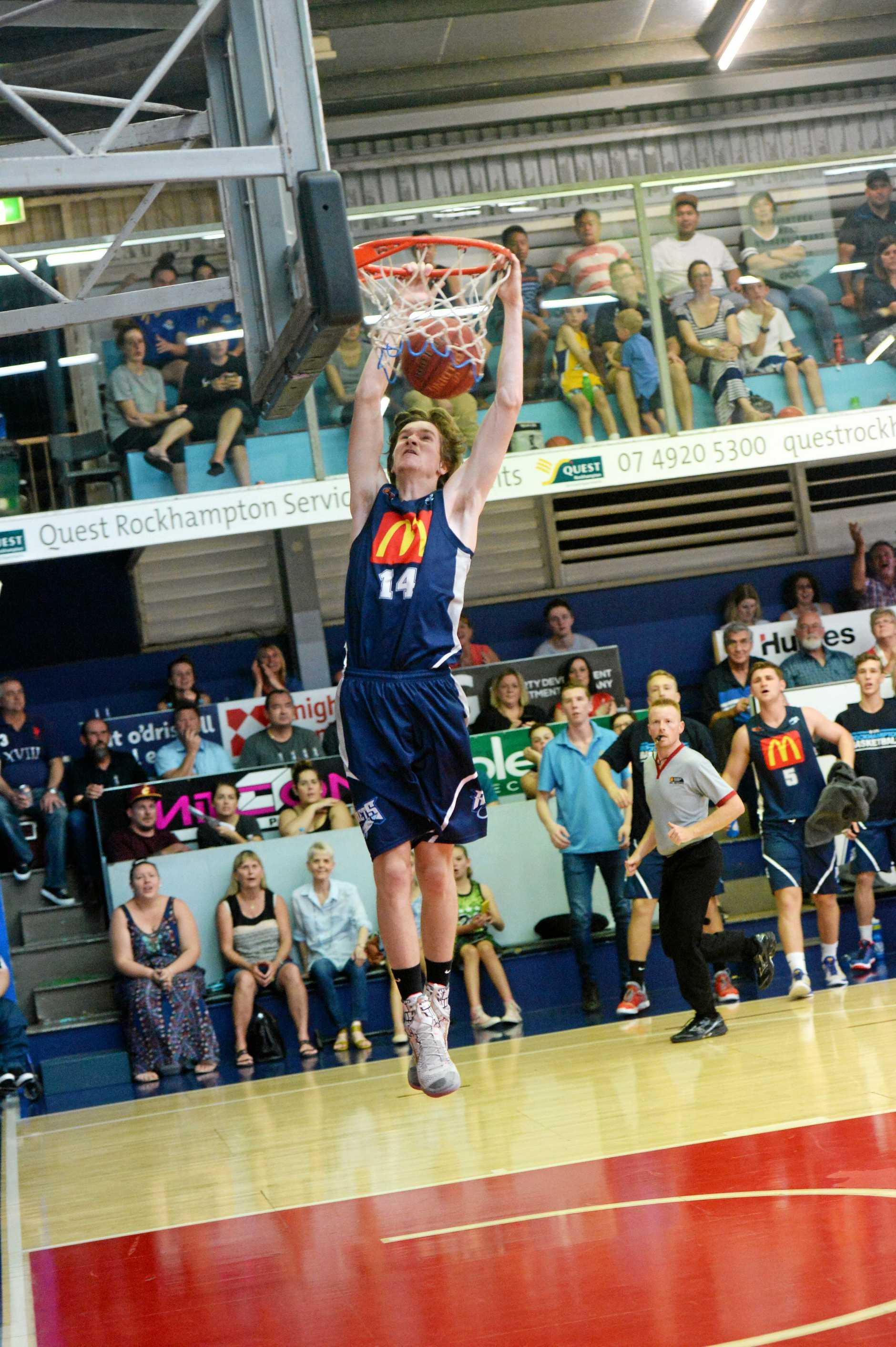 Rockets' Jared Blanchard against Port City Power Photo Allan Reinikka / The Morning Bulletin