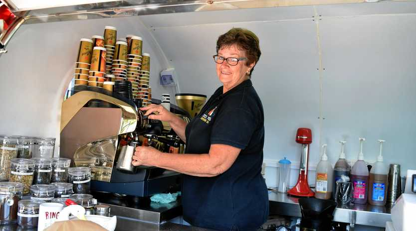After months of uncertainty,  owner of Duck Pond Expresso Bar  Noreen Colley has moved her big red coffee van two doors down and is re-open for business.