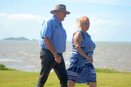 RSL District Vice President Phillip Luzzi, with Michelle Landry MP, welcome more funding for Emu Park's Anzac walk