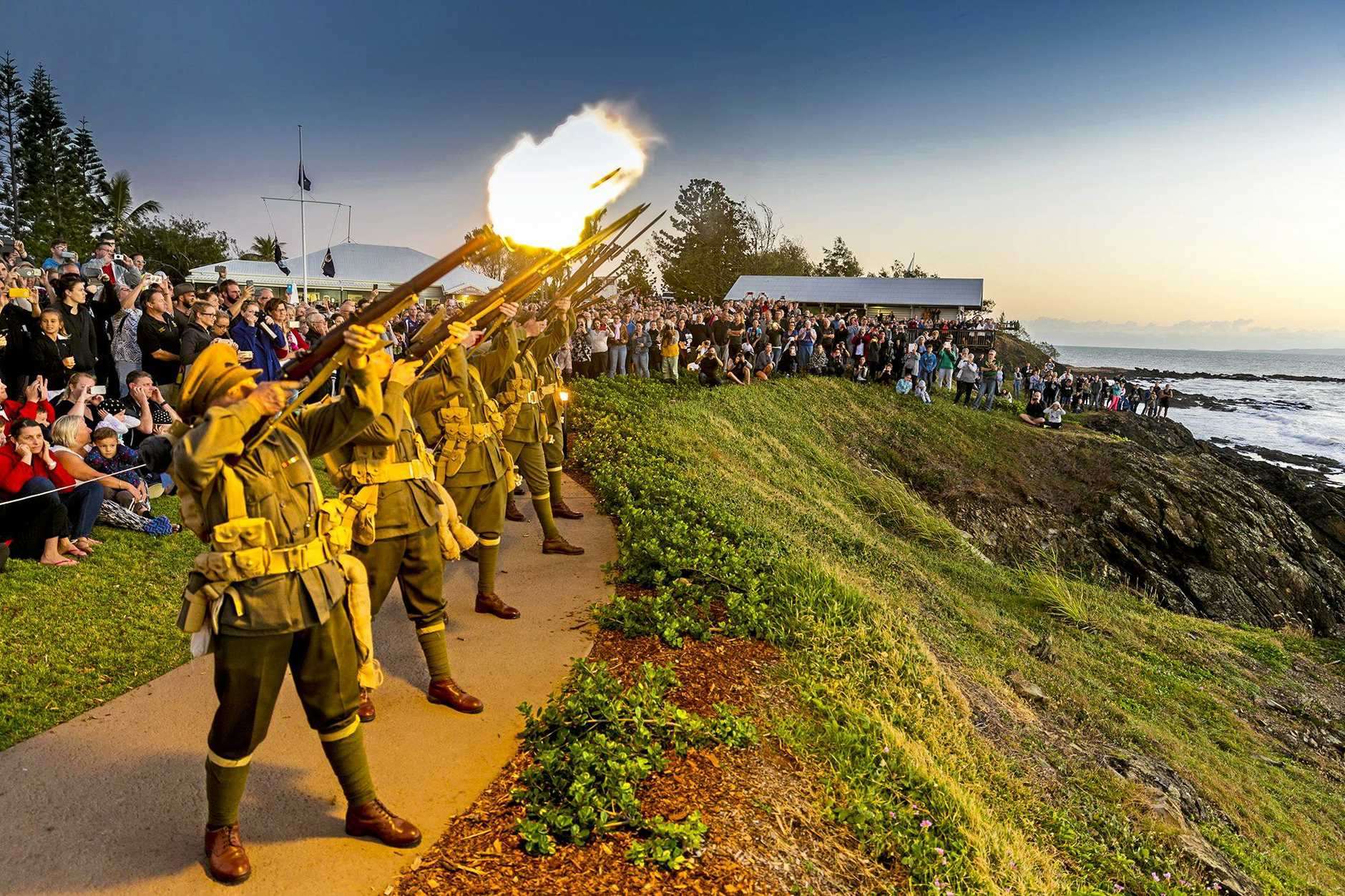 Emu Park's 2017 Anzac Day Dawn Service attracted thousands to the memorial precinct.