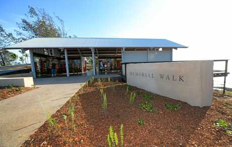 The newly opened Gatehouse at the Anzac Memorial Precinct in Emu Park.   Photo: Chris Ison / The Morning Bulletin