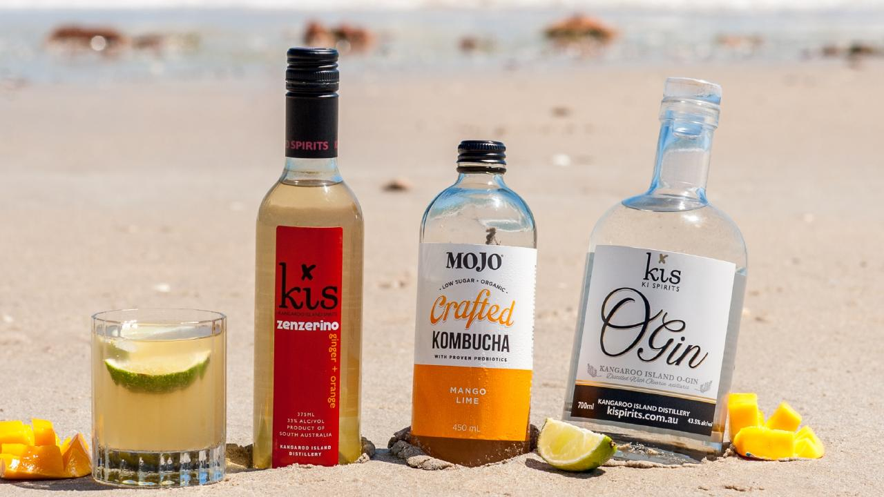 Kombucha brand MOJO says their drinks go well with gin and support it being used as a mixer, as 'mindful drinkers' seek healthier alcohol alternatives. Picture: Supplied