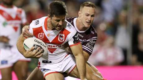 Ben Hunt starred for the Dragons in their win over Manly. PIcture: Getty Images