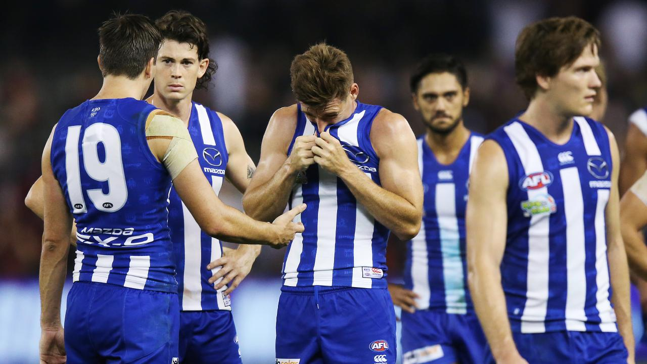 North Melbourne are under pressure after falling to the bottom of the ladder. Picture: Getty Images