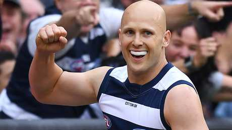 Gary Ablett was unstoppable against the Hawks. Picture: Getty Images