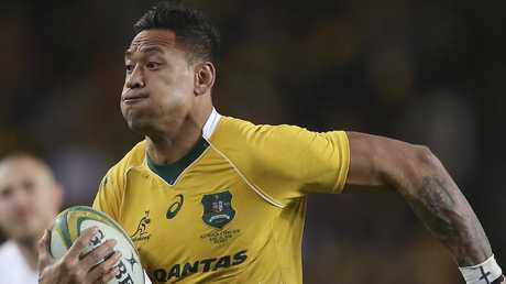 Folau has requested a code of conduct hearing at which it will be determined whether he has breached the player code of conduct. Picture: AP/Rick Rycroft