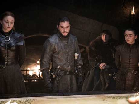 Sansa Stark (Sophie Turner), Jon Snow (Kit Harington), Bran Stark (Isaac Hempstead Wright) and Arya Stark (Maisie Williams) are trying to work if they will live … or die in the final season of GoT. Picture: HBO