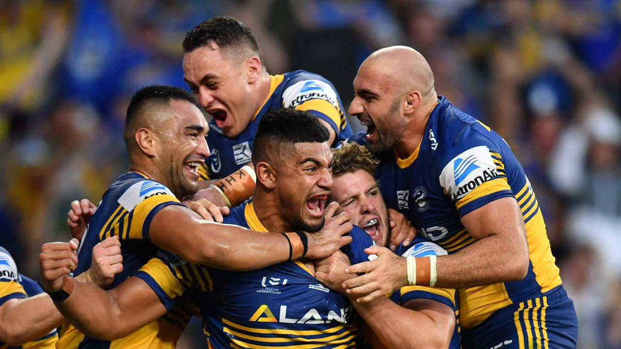 The Eels had a day out. (AAP Image/Dean Lewins)