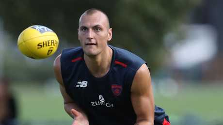 Demon Braydon Preuss could be an option for those who missed out on Reilly O'Brien. Picture: David Crosling