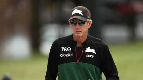 Rabbitohs coach Wayne Bennett knew what was going to happen with the latest edict handed down to referees. Picture: Getty