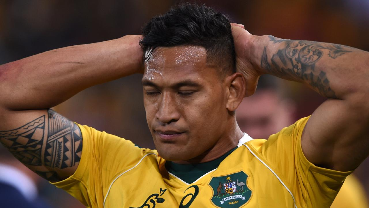Folau may be free to speak as he wishes, but that doesn't mean there are to be no consequences. Picture: AAP/Dave Hunt