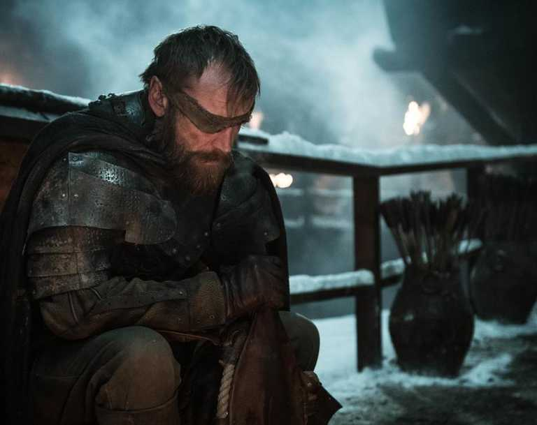 RIP? Beric Dondarrion (Richard Dormer) contemplates his chances of making it out alive on GoT. Picture: HBO