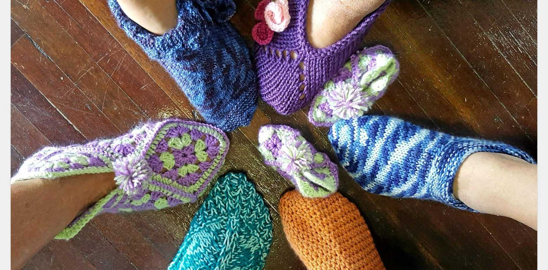 The results of a slipper challenge held by the Valley Spinners and Craft Inc.