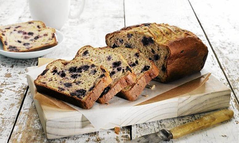 YUM!: Blueberry and banana bread.