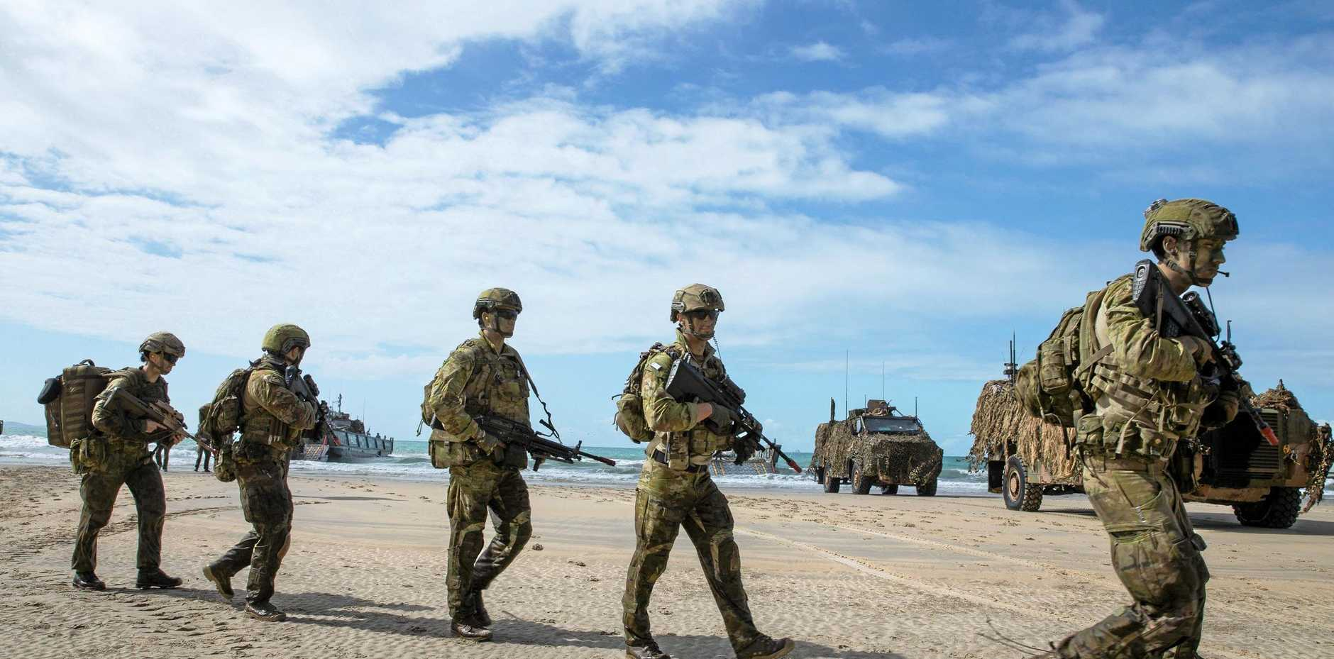 INVALUABLE EXPERIENCE: Soldiers from 2nd Royal Australian Regiment on a previous   Exercise Talisman Saber.