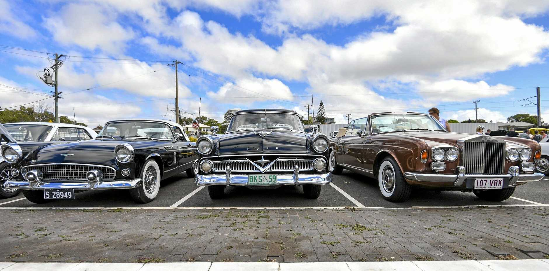 The classic cars on show at the Annual Easter Display.