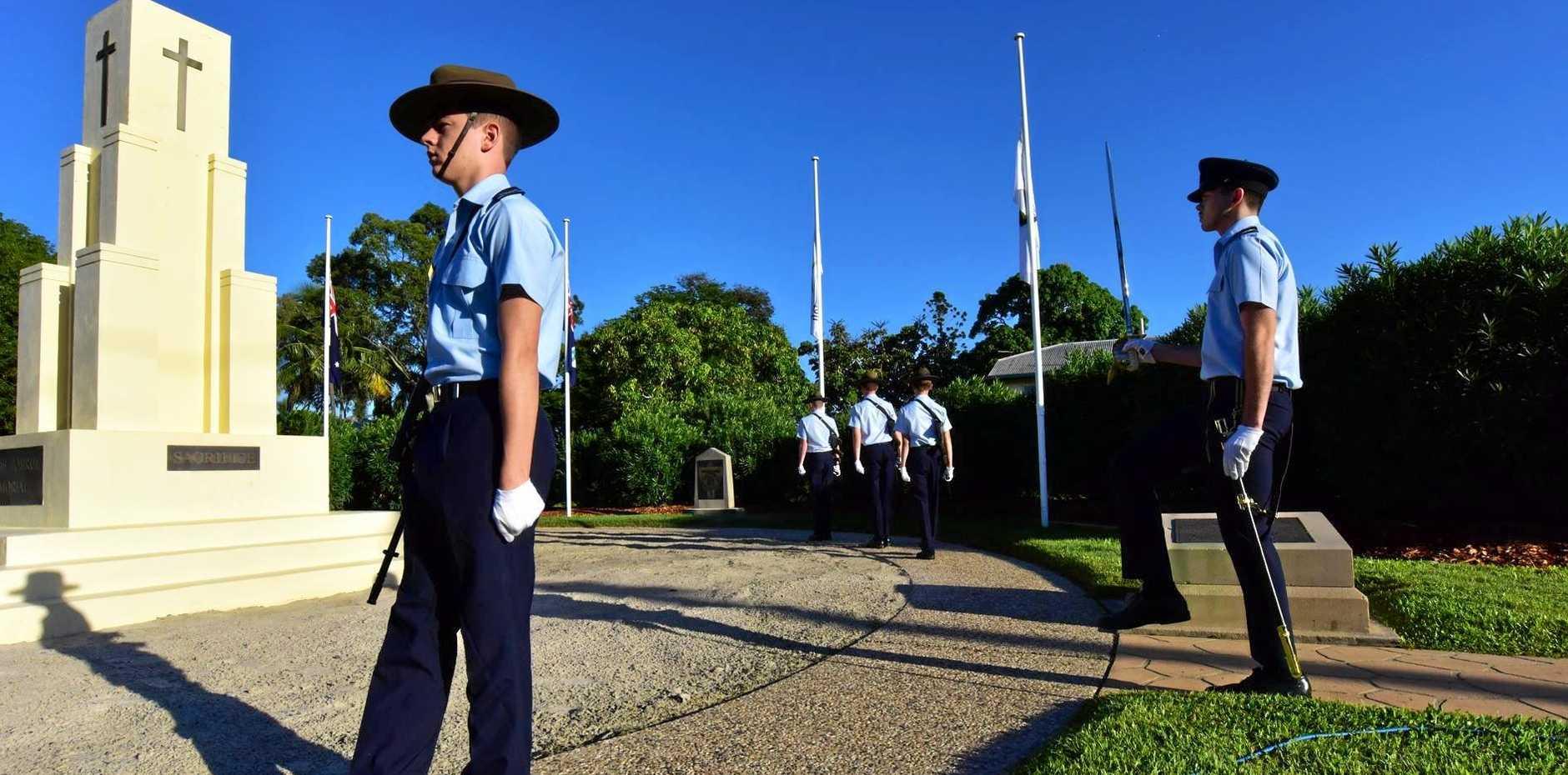 The Rats of Tobruk service on Anzac Day at Jeffreys Park Rockhampton.