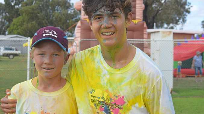 Hundreds of runners chased the rainbow at the colour run