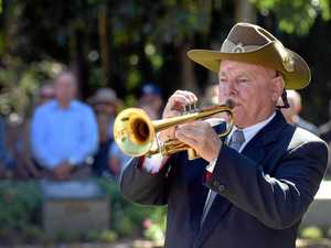 Police officer's gamble with fate at Anzac Day march