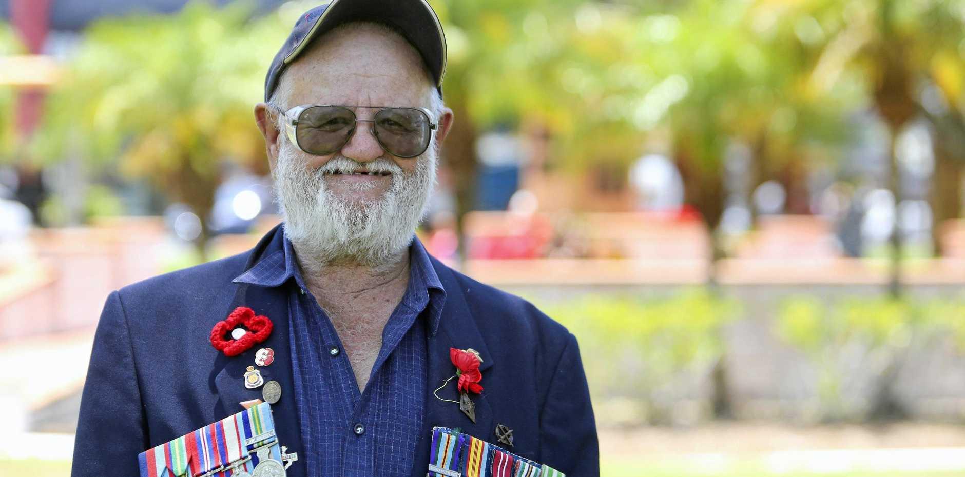 RELUCTANT HERO: Vietnam vet Trevor Davis.