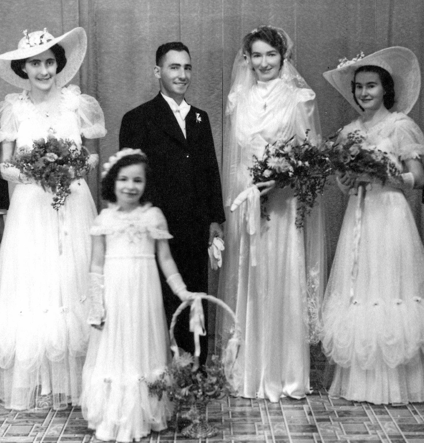 Cath McCarthy and Juan Porqueras on their wedding day, June 6, 1941.