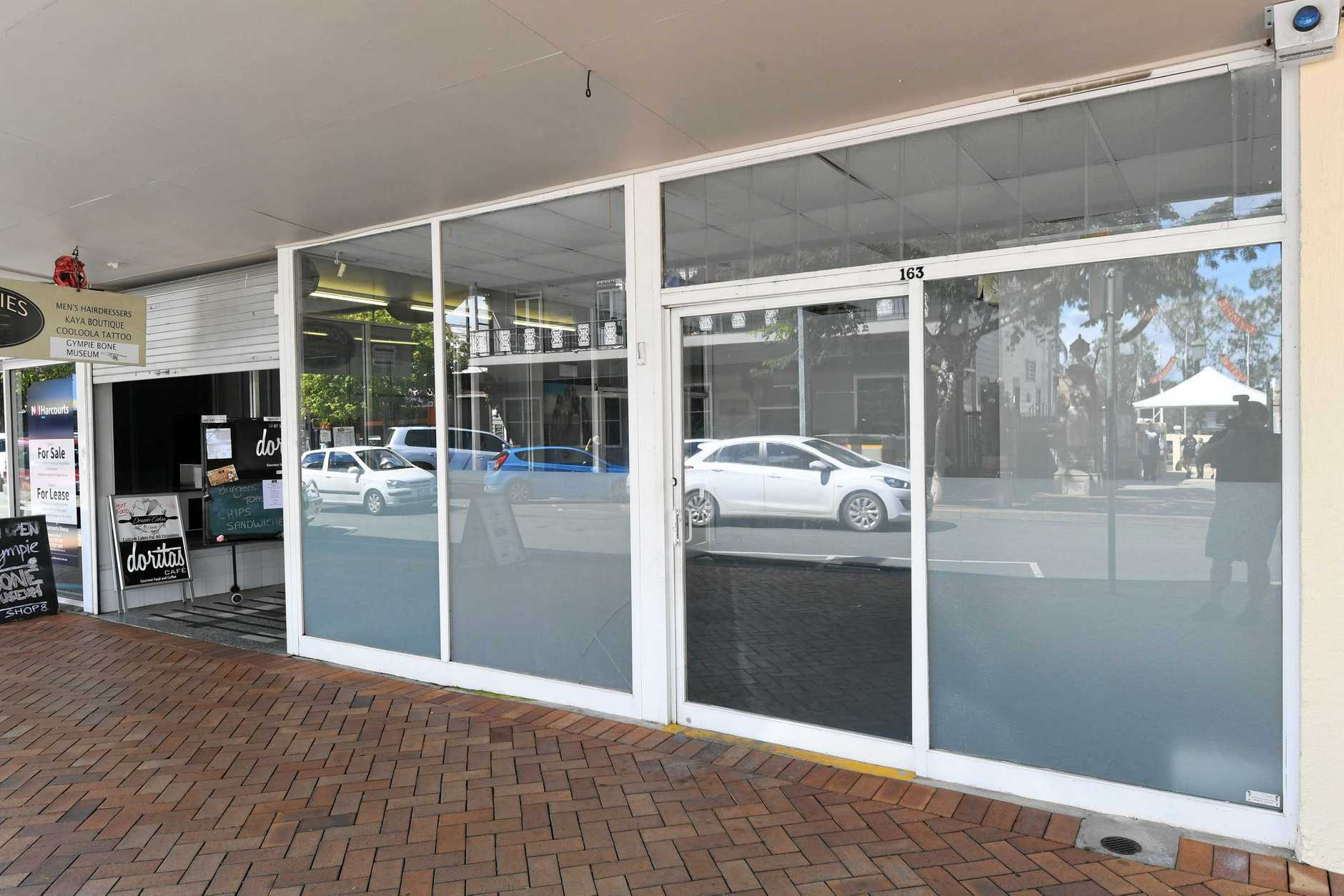 Empty shops in Gympie, Mary St.