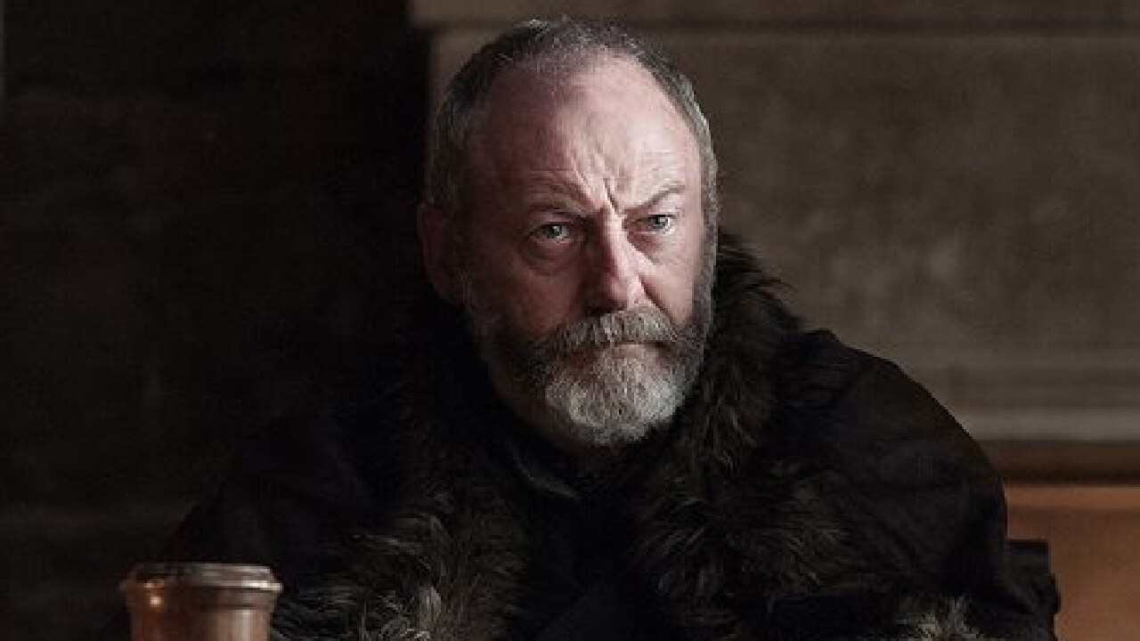 Ser Davos Seaworth interacted with a very random guest star on Monday's episode of Game of Thrones.