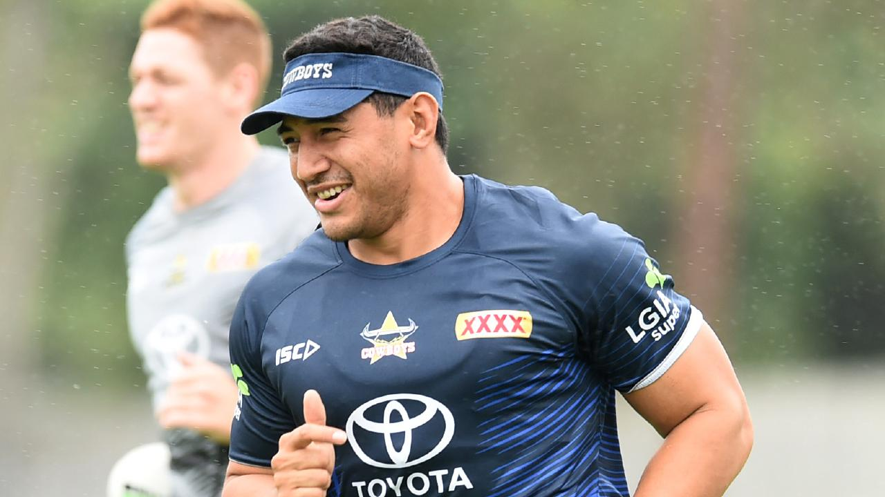 North Queensland Cowboys training at 1300Smiles Stadium. Jason Taumalolo. Picture: Evan Morgan