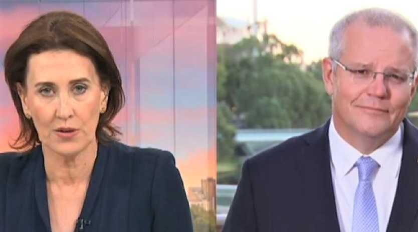Virginia Trioli grilled Scott Morrison on morning TV. Picture: ABC