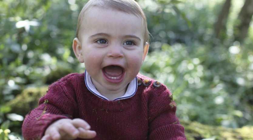 Kensington Palace has released new photos of Prince Louis. Picture: Duchess of Cambridge/Kensington Palace via AP
