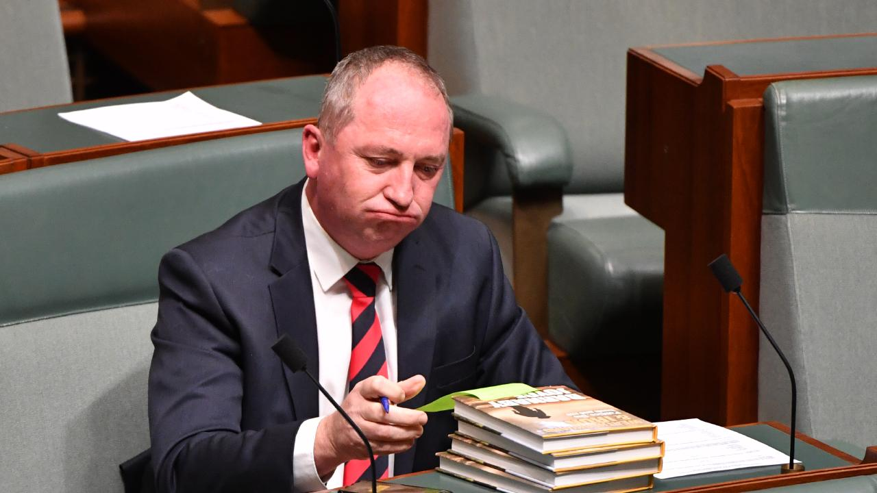 Former deputy prime minister Barnaby Joyce knows a thing or two about adultery and fornication. Picture: AAP/Mick Tsikas