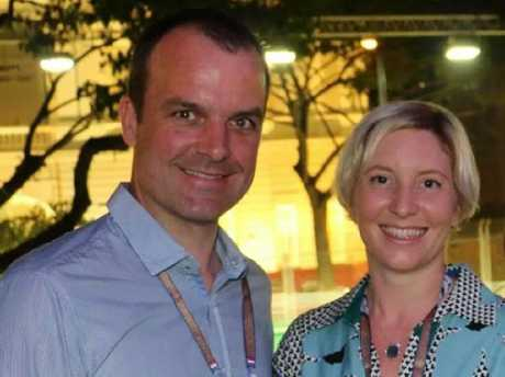 Ben and Anita Nicholson worked in Singapore as lawyers. Now only Ben survives after losing his wife and two children in the Sri Lanka bomb blasts. Picture: facebook