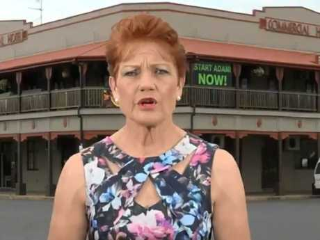 Pauline Hanson used the extinction of dinosaurs to back up her climate change claims. Picture: Today