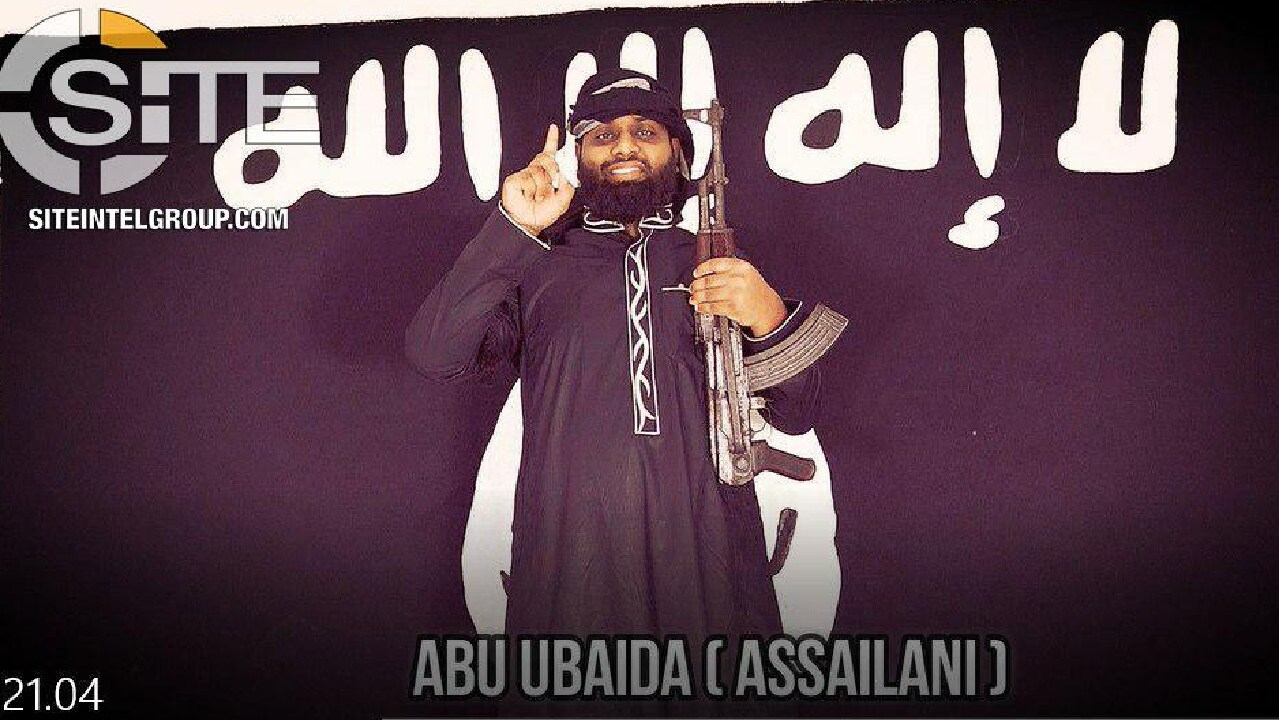 Abu Ubaida appears to be National Thowheeth Jama'ath preacher Zahran Hashim. Picture: SITE Intel Group