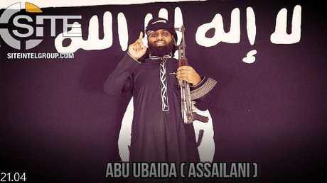 Abu Ubaida appears to be National Thowheeth Jama'ath preacher Zahran Hashim. Picture: SITE Intel Group